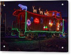 Christmas Caboose  Acrylic Print by Garry Gay