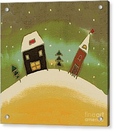 Christmas Card Acrylic Print by Yana Vergasova