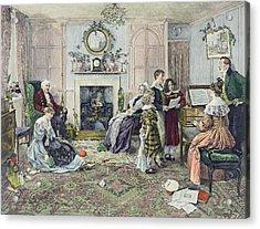 Christmas Carols Acrylic Print by Walter Dendy Sadler