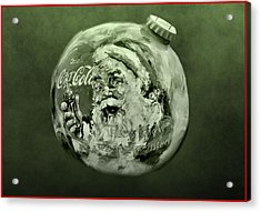 Christmas Coca Cola Acrylic Print by Dan Sproul