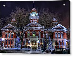 Christmas Courthouse Acrylic Print by Scott Wood