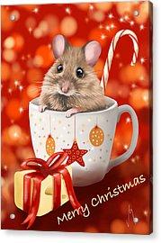 Christmas Cup Acrylic Print by Veronica Minozzi