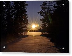 Christmas Day Sunset Acrylic Print by RJ Martens