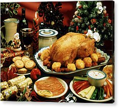 Christmas Dinner Acrylic Print by The Irish Image Collection