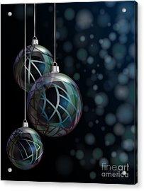 Christmas Elegant Glass Baubles Acrylic Print by Jane Rix