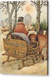 Christmas Eve Acrylic Print by Kestutis Kasparavicius