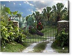 Christmas Gate Acrylic Print by Robert Smith