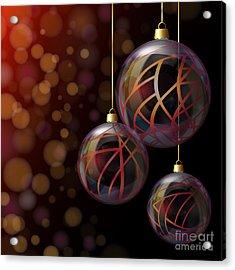 Christmas Glass Baubles Acrylic Print by Jane Rix