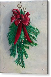 Christmas Greens Acrylic Print by Phillip Compton