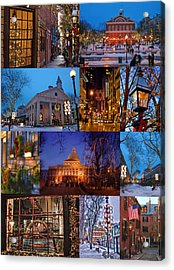 Christmas In Boston Acrylic Print by Joann Vitali