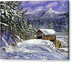 Christmas In New England Acrylic Print by David Lloyd Glover