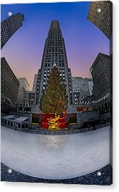 Christmas In Nyc Acrylic Print by Susan Candelario