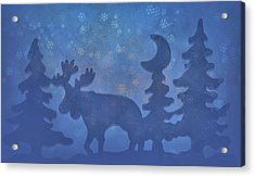 Christmas In The Forest Acrylic Print by Dan Sproul