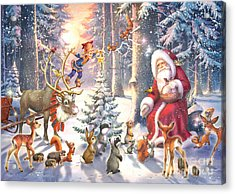 Christmas In The Forest Acrylic Print by Zorina Baldescu