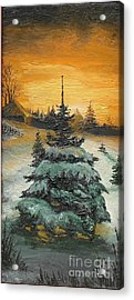 Christmas Is Coming Acrylic Print by Sorin Apostolescu