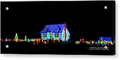 Christmas Lights Acrylic Print by Olivier Le Queinec