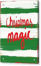 Christmas Magic - Greeting Card Acrylic Print by Linda Woods