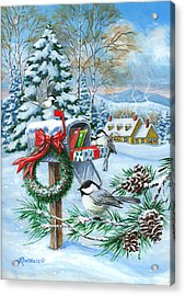 Christmas Mail Acrylic Print by Richard De Wolfe