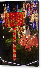 Christmas Mailbox Acrylic Print by Garry Gay