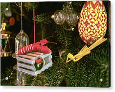 Christmas Ornaments I Acrylic Print by Harold E McCray
