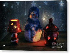 Christmas Ornaments Acrylic Print by Ian Mitchell