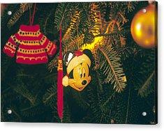 Christmas Ornaments Iv Acrylic Print by Harold E McCray