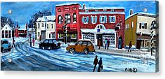Christmas Shopping In Concord Center Acrylic Print by Rita Brown