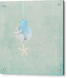 Christmas Starfish Acrylic Print by Kim Hojnacki