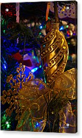 Christmas Tree Detail 2 Acrylic Print by Mick Anderson