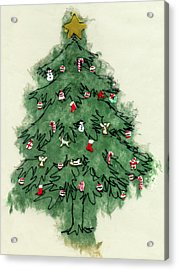 Christmas Tree Acrylic Print by Mary Helmreich
