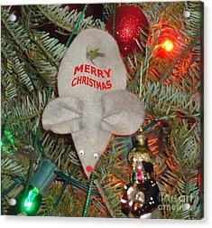 Christmas Tree Mouse Acrylic Print by Joseph Baril