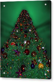 Christmas Tree Acrylic Print by Thomas Woolworth