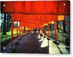 Christo - The Gates - Project For Central Park Acrylic Print by Nishanth Gopinathan