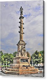 Christopher Columbus Monument At Columbus Circle In Manhattan Acrylic Print by Randy Aveille