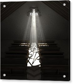 Christ's Light In The Dark Acrylic Print by Allan Swart