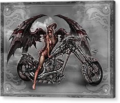 Chrome Dragon Acrylic Print by David Bollt