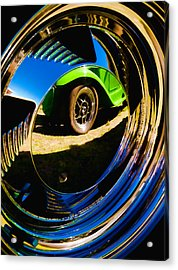 Chrome Hubcap Acrylic Print by Phil 'motography' Clark