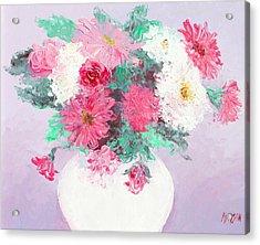 Chrysanthemums Acrylic Print by Jan Matson