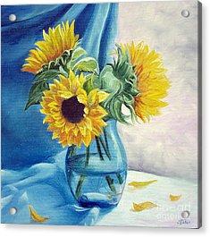Chrysanthemums Acrylic Print by Sorin Apostolescu