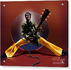 Chuck Berry - This Is How We Do It Acrylic Print by Reggie Duffie