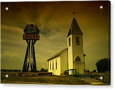Church And Casino Those Two Angels  Acrylic Print by Jeff Swan