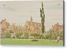Church And Parsonage, Bedford Park, 1881 Acrylic Print by Frederick Hamilton Jackson