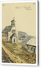 Church At Rejkjavik Iceland 1862 Acrylic Print by Aged Pixel