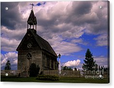 Church At The Okeefe Ranch Acrylic Print by Bob Christopher