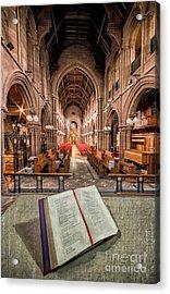 Church Bible Acrylic Print by Adrian Evans