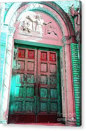 Church Door Acrylic Print by Becky Lupe