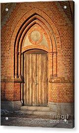 Church Door Helsingborg Acrylic Print by Antony McAulay