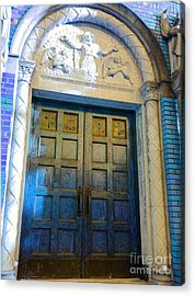 Church Door II Acrylic Print by Becky Lupe
