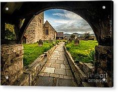 Church Entrance Acrylic Print by Adrian Evans