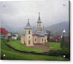 Church In The Mist Acrylic Print by Jeff Kolker